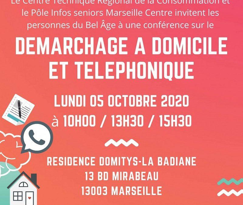 Conférence le 5 octobre 2020 sur Marseille à destination des seniors